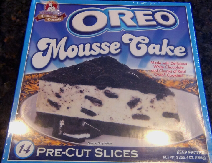 * Frozen Chef's Quality Oreo Mousse Cake 14 Slices