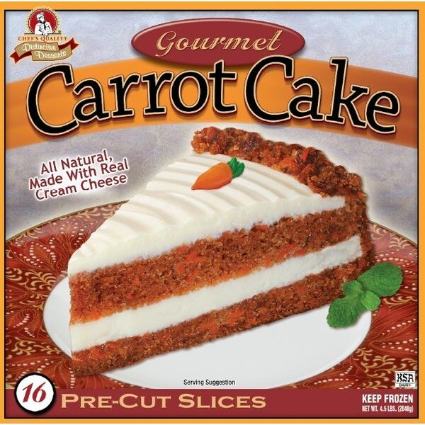 * Frozen Chef's Quality Triple Layer Carrot Cake 14 Slices