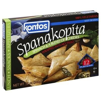 * Frozen Kontos Foods Spanakopita 12-1 Ounces