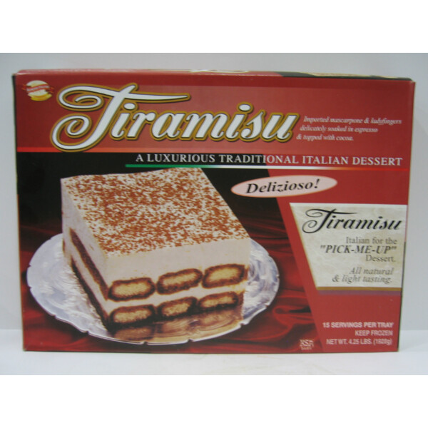 * Frozen Supremo Italiano Tiramisu Tray 4.25 Pounds