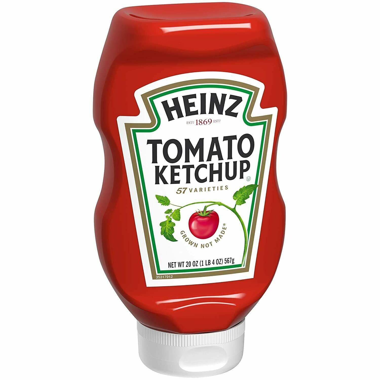 * Heinz Tomato Ketchup Upside Down Bottle 20 Ounces