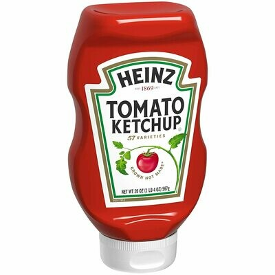 * Heinz Tomato Ketchup Upside Down Bottle 20 Ounces