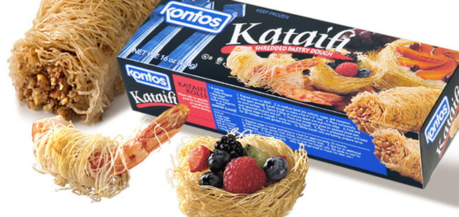 * Frozen Kontos Kataifi (Shredded Filo)1 Lb Packages
