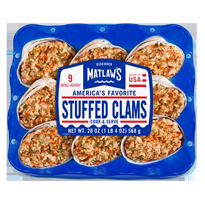 * Frozen Matlaws Stuffed Clams Overwrap 20 Ounces Per Pkg