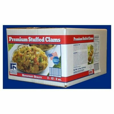* Frozen Sea Watch Brand Premium Stuffed Clams 2 Ounces , 12 Count Per Pkg