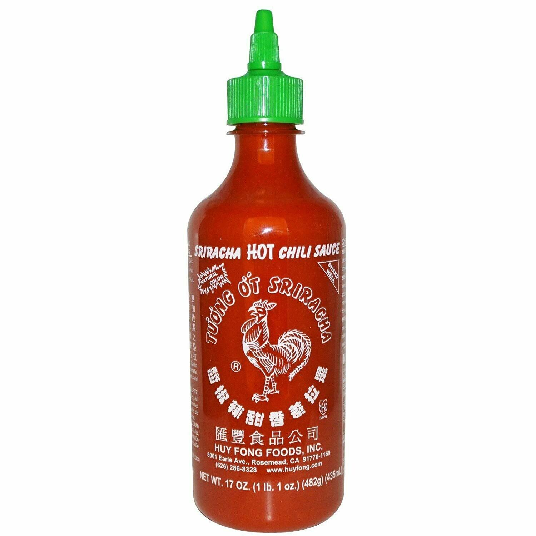 * Huy Fong Sriracha Hot Chili Sauce 17 Ounces Bottle