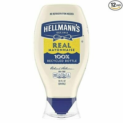 * Hellman's Mayonnaise 20 Ounces Squeeze Bottle