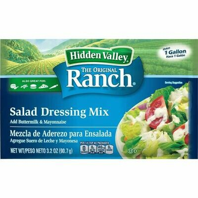 * Hidden Valley Original Ranch Dressing Dry Mix 3.2 Ounces