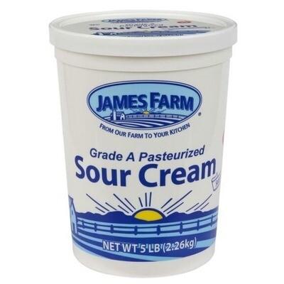 * James Farm Sour Cream 5 Pounds