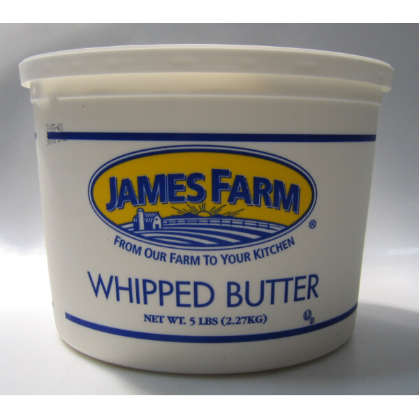 * James Farm Whipped Salted Butter 5 Pounds