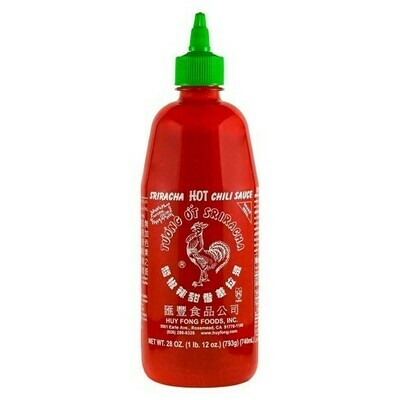 * Huy Fong Sriracha Hot Chili Sauce 28 Ounces Bottle