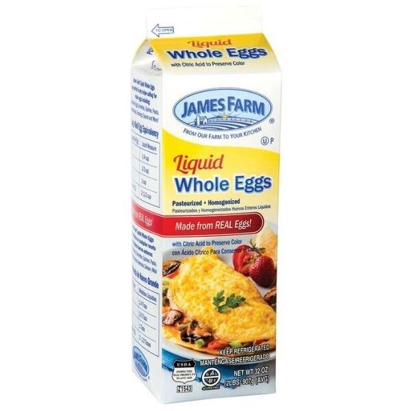 * James Farm Liquid Eggs Whole Eggs 2 Pounds