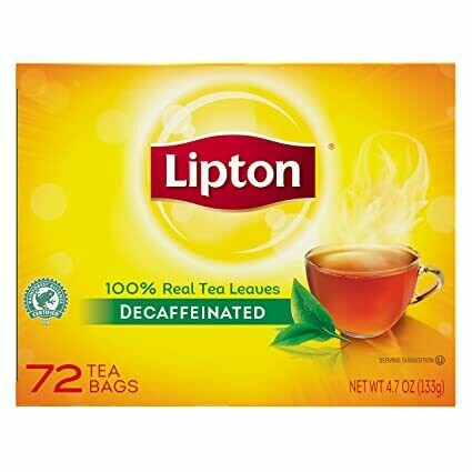 * Lipton Decaffeinated Tea 72 Tea Bags