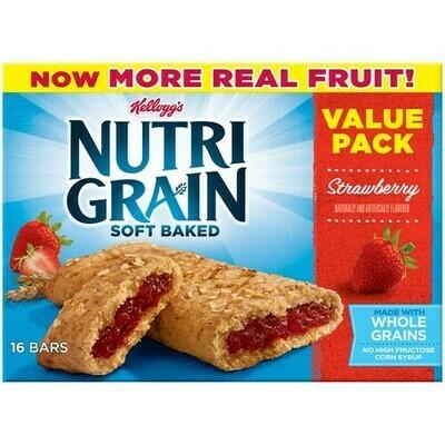 * Kellogg's Nutri-Grain Strawberry Cereal Bars 16-1.3 Ounces