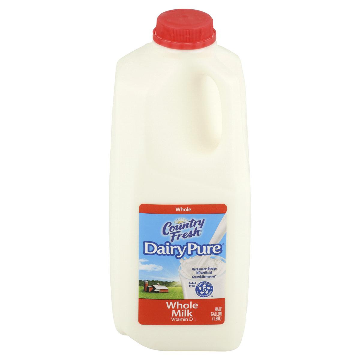 * Milk 1/2 Gallon