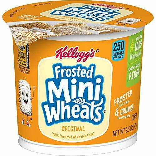 * Kellogg's Frosted Mini Wheats Cereal 6-2.3 Ounces