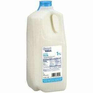 * Milk 1% - 1/2 Gallon
