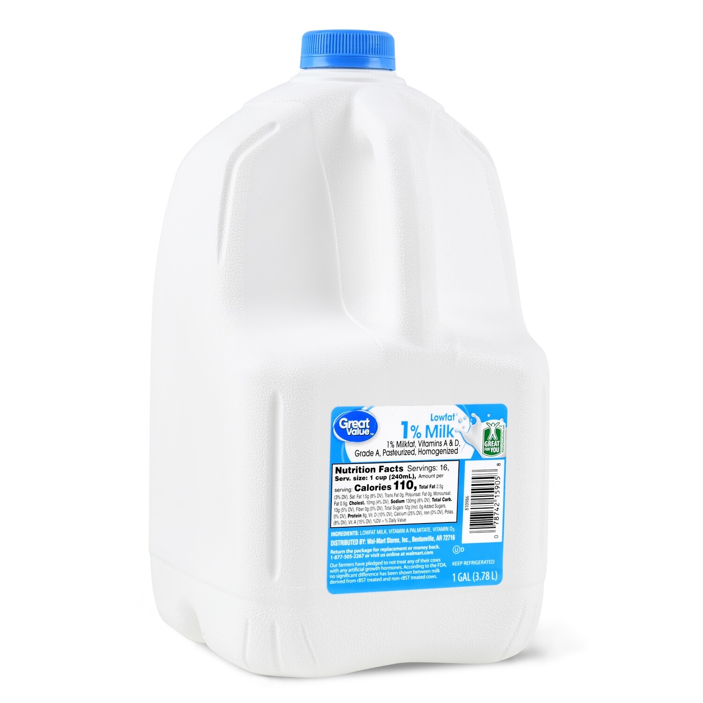 * Milk 1% - 1 Galon