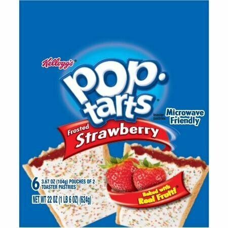 * Kellogg's Pop Tarts Frosted Strawberry 6 Count