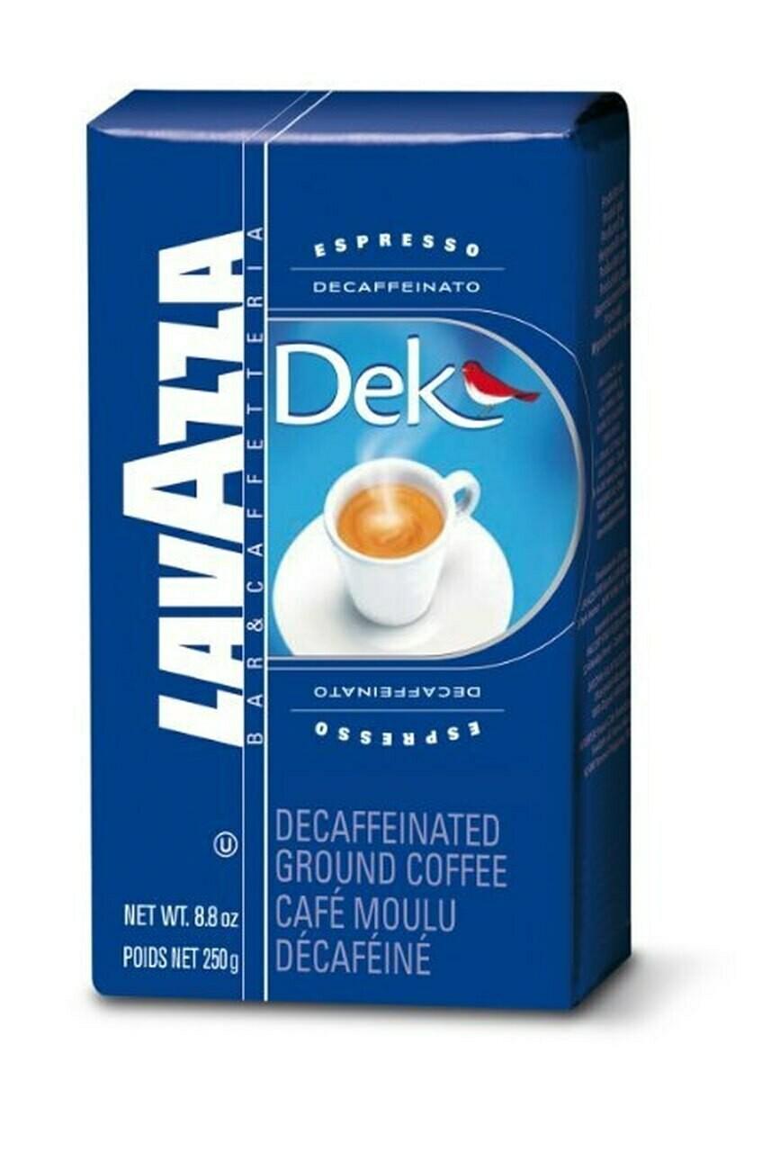 * Lavazza Dek Decaf Espresso Ground 8.8 Ounces