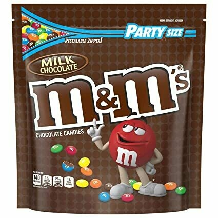 * M&M's Milk Chocolate Candy Party Size Bag 38 Ounces