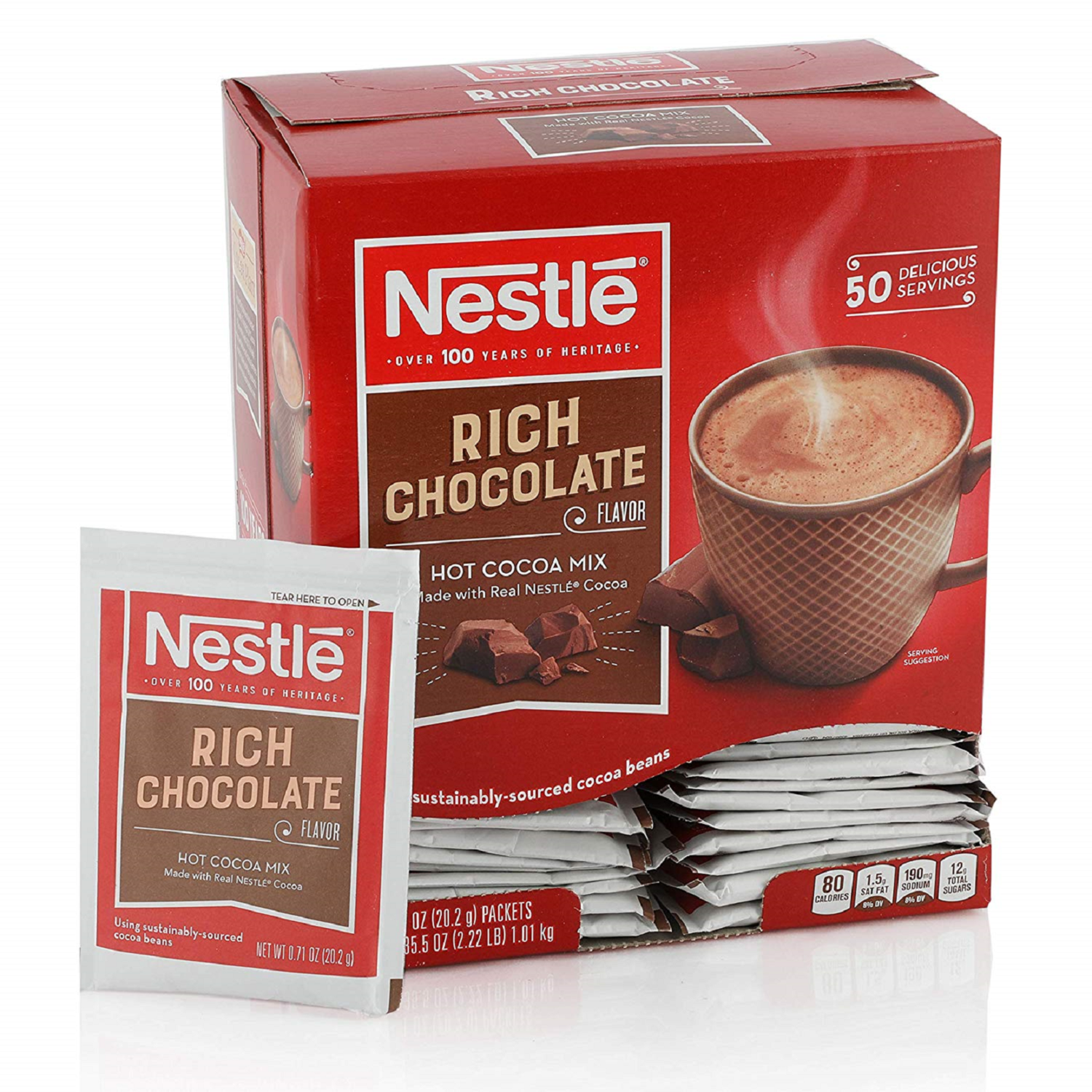 * Nestle Rich Hot Cocoa Mix 50-.7 Ounces Packets