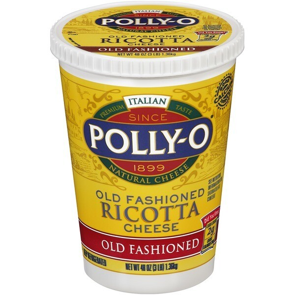 * Polly-O Old Fashioned Ricotta Cheese 3 Lb
