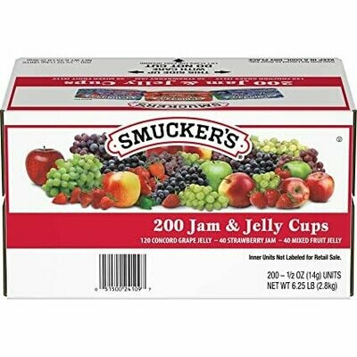 * Smucker's Assorted Jelly #15 200-0.5 Ounces Packets