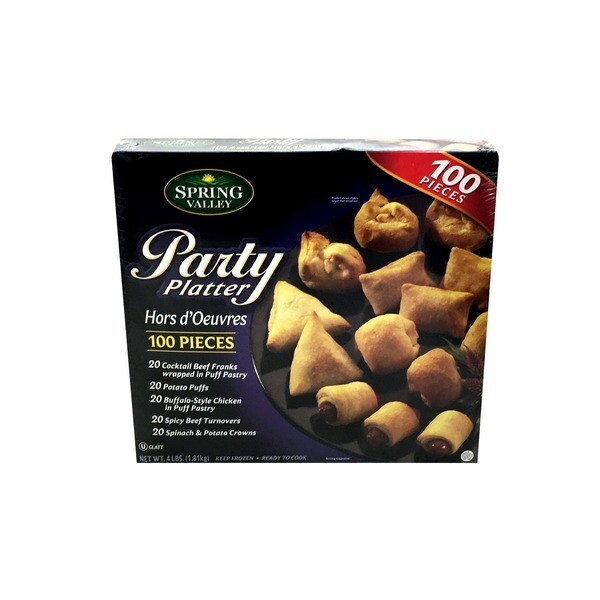 * Spring Valley Party Platter Hors D'Oeuvres 100 Count
