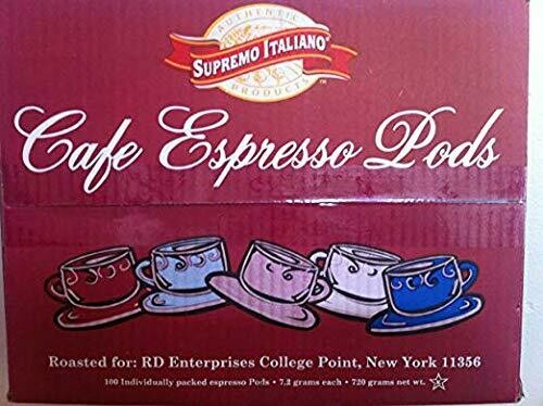 * Supremo Italiano Espresso Pods 100-7.25 Grams