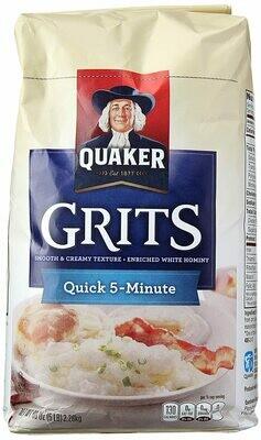 * Quaker Quick White Grits 5 Pound Box