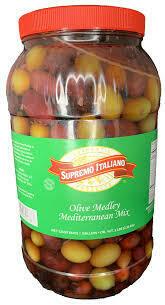 * Supremo Italiano Assorted Mediterranean Olive Mix 1 Gallon