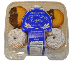 * Ruggero'S Bake Shop Assorted Raspberry Filled Cookies 14 Ounces Pack