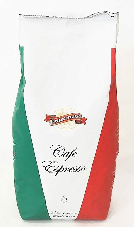 * Supremo Italiano Whole Bean Espresso Coffee 2 Pounds