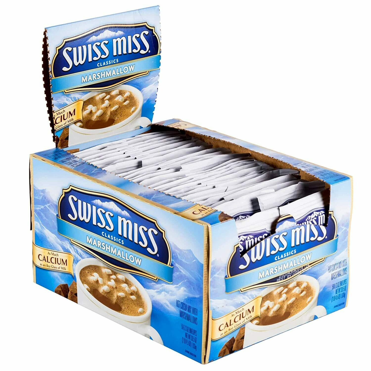* Swiss Miss Hot Cocoa Mix With Marshmallows 50 Count