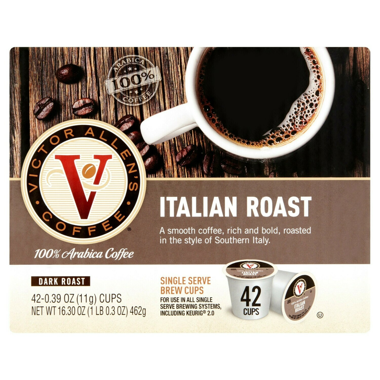 * Victor Allen Single Serve Coffee, Italian Roast 42 Count
