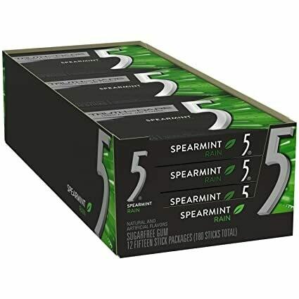 * Wrigley's 5 Sugar Free Spearmint Rain Gum 12-15 PCS