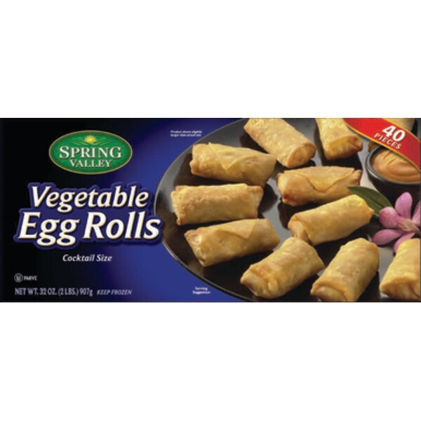 * Vegetable Egg Rolls 40 Count