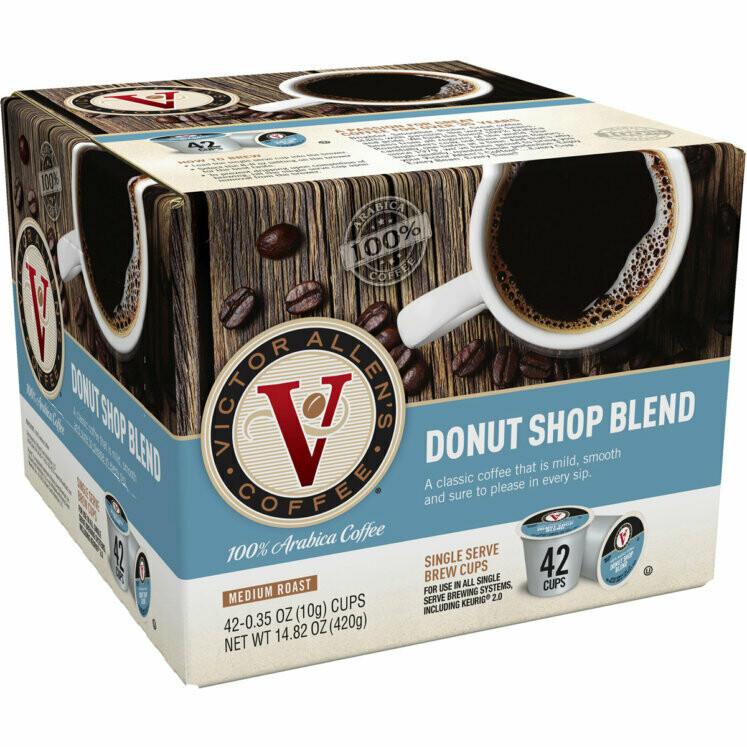 * Victor Allen Single Serve Donut Shop Coffee 42 Count
