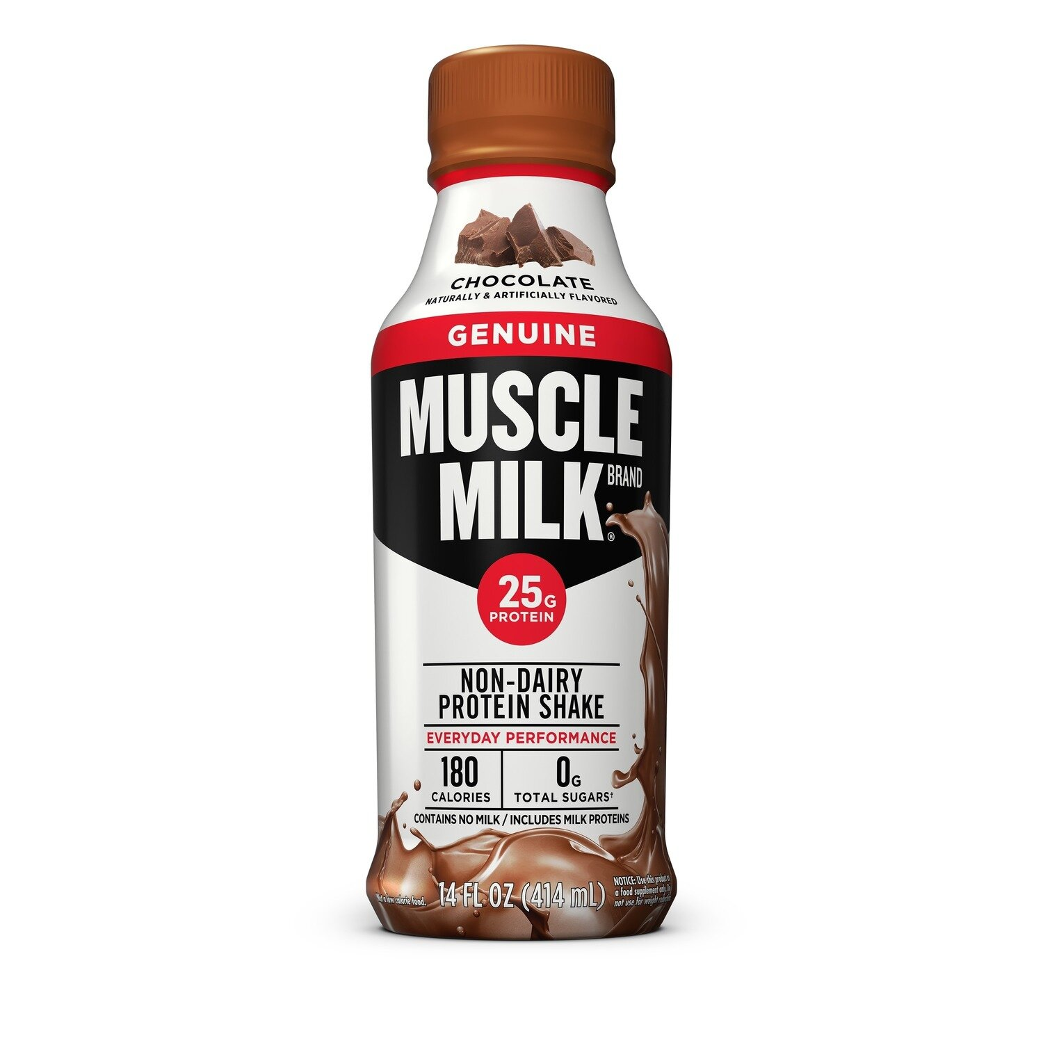 * Muscle Milk Chocolate Protein Shake 24-14 Ounces Bottles