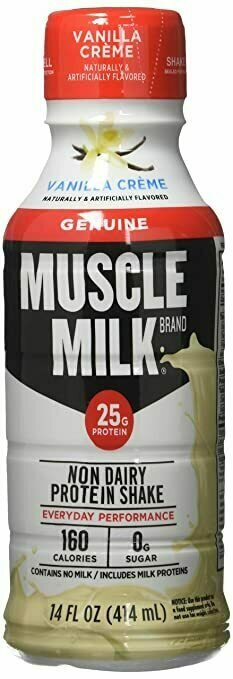 * Muscle Milk Vanilla Cream 12-14 Ounces
