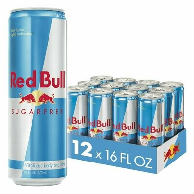 * Red Bull Energy Drink, Sugar Free 12-16 Ounces