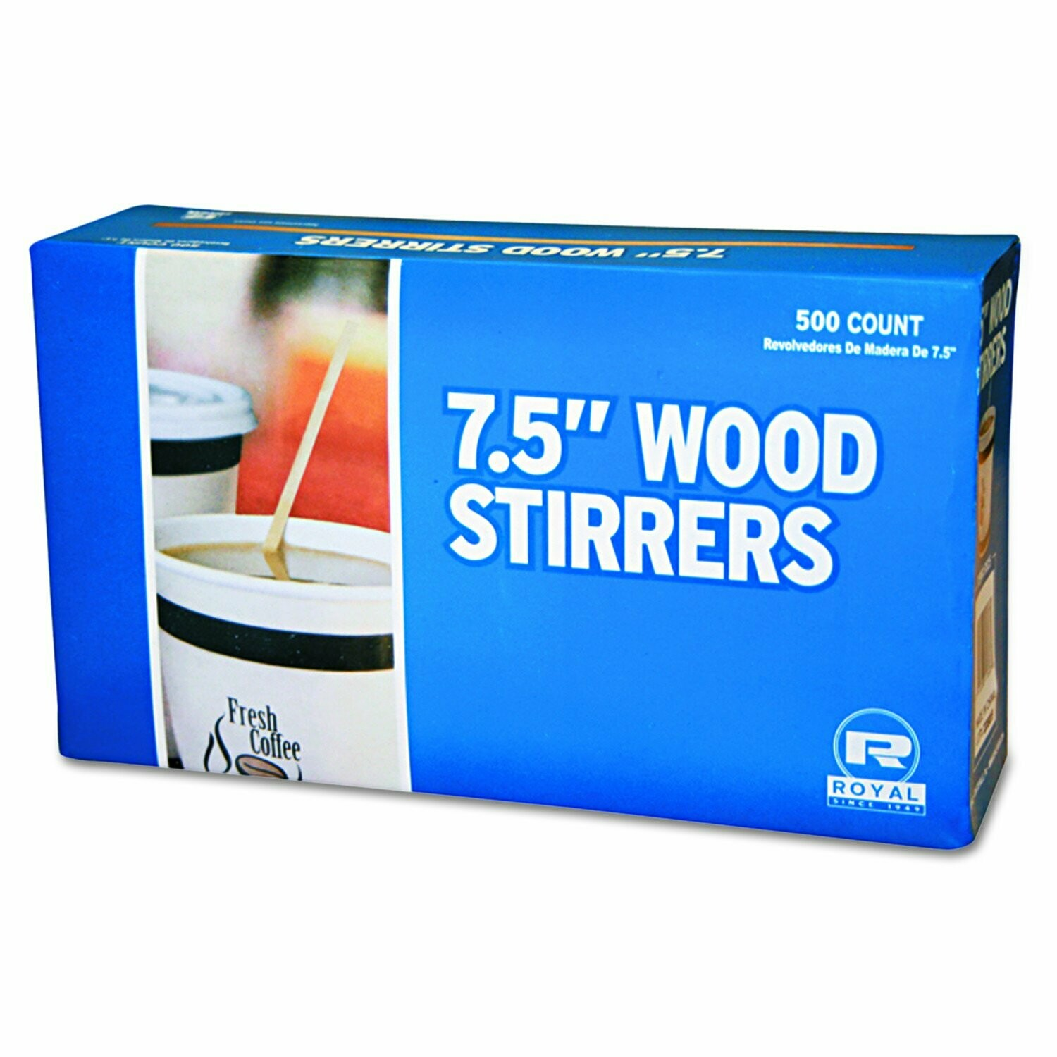 "* 7 1-2"" Wood Coffee Stirrers 500 Count"