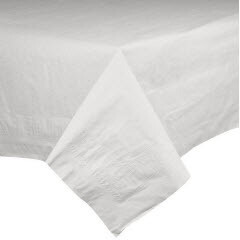 * AEP 54X108 White Embossed Poly Table Cover