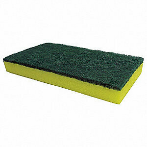 * ACA Green-Yellow Knuckle Buster Scrub Sponge