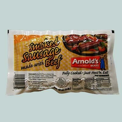 * Arnold's Meat Smoked Beef Sausage 2.5 Pounds