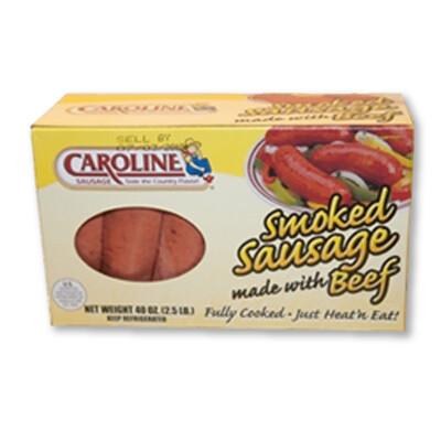 * Caroline's Smoked Hot Beef Sausage 24 Ounces