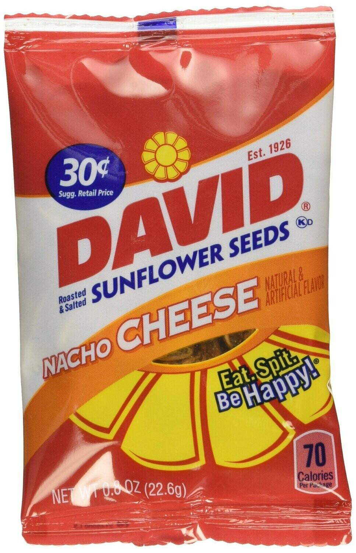 * David Sunflower Seeds Nacho Cheese Flavor (30 Cent Pk) 36