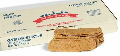 * Devanco Cooked Gyro Slices 5 Pounds
