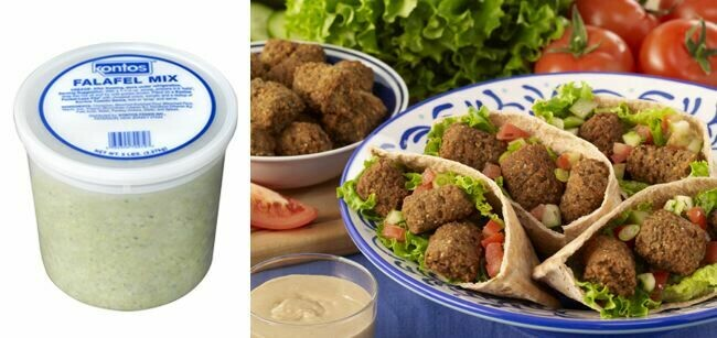 * Frozen Falafapita Falafel Mix 5 Pound Bucket